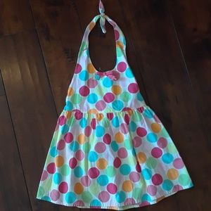 Gymboree girls Halter Top smocked back sz 7
